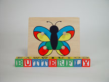 Large Knob Puzzle Butterfly