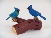 Song Birds of Nature Northern Cardinal Blue