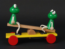 Petra Wooden Two Frogs on Seesaw Pull Toy