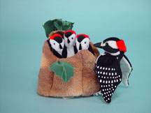 Woodpecker Family Puppet